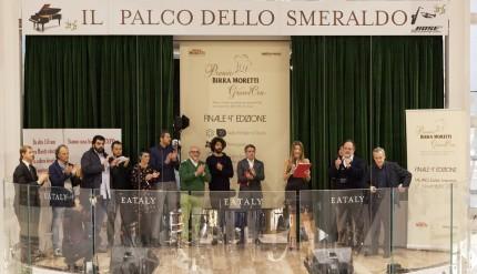 La Giuria del Premio Birra Moretti Grand Cru  2014 sul palco di Eataly Smeraldo - Milano