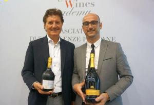 Giancarlo Moretti Polegato, presidente di Villa Sandi e Yannick Déroulède,  responsabile vini  di importazione di Les Grands Chais de France