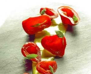 Alcune creazioni di Simone Salvini, bandiera dell'alta cucina vegetariana