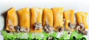 Maccheroni con anguilla affumicata e ostriche