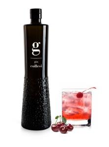 Bottiglia gin-bicchiere visciola