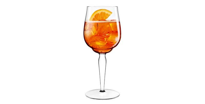 aperol spritz ecco il signature glass firmato da luca