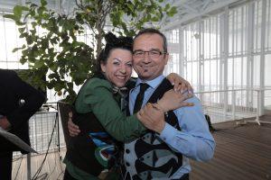 Cinzia Ferro con Fulvio Piccinino (foto Max Ferrero)