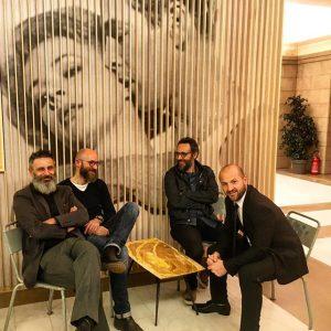 Da sinistra Daniele Palladini, Luca e Marco Baldini e Francesco Sanapo