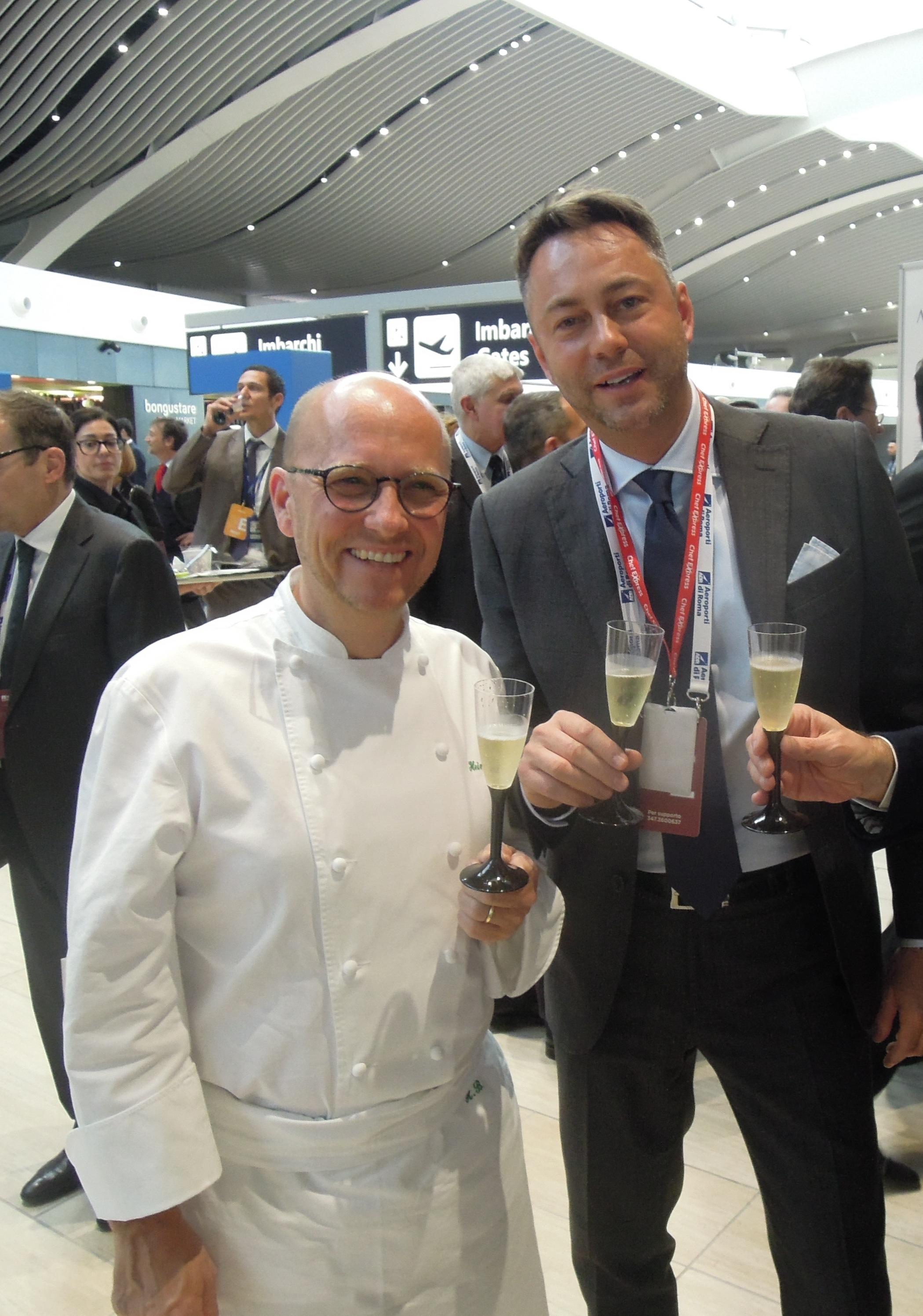 Heinz Beck insieme a Cristiasn Biasoni A.D.di Chef Express