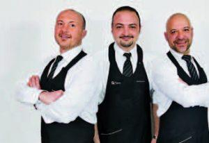 """Il """"Trio"""" Rimani: al centro Francesco Rosati, a sinistra il fratello Roberto, a destra Marco Ginestroni"""