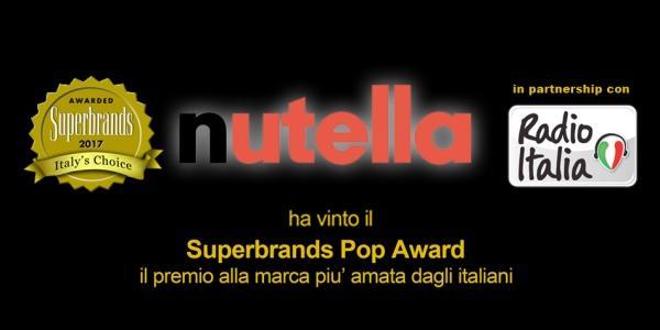 La Nutella Ferrero è il brand più amato dagli italiani