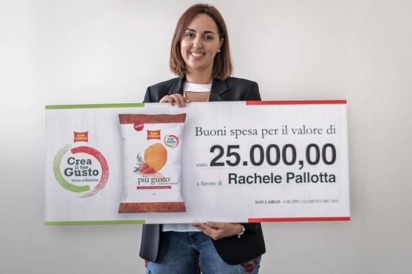 Rachele pallotta vince il concorso crea il tuo gusto di for San carlo crea il tuo gusto