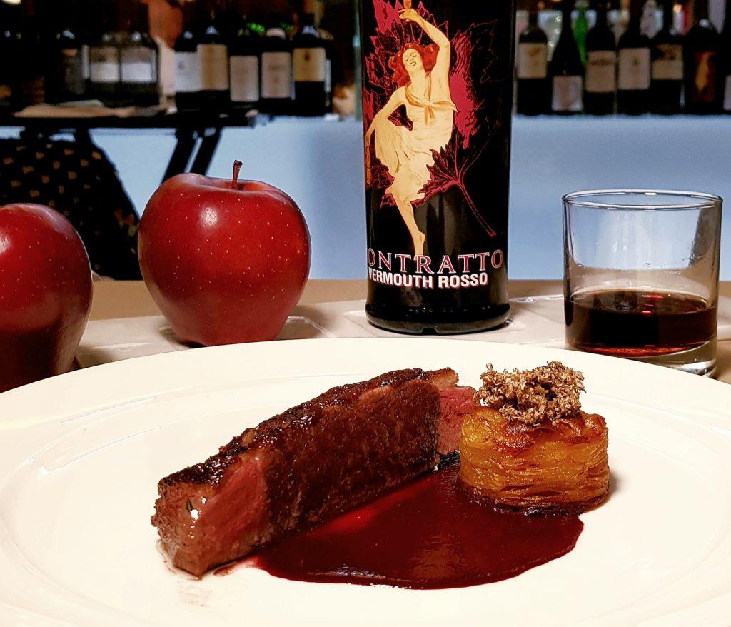 cena di degustazione con vermouth
